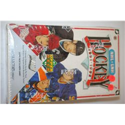 1991-1992 NHL Hockey Trading Cards; Various Dates, Players & Teams; Unopened Box; Lot of 12 Cards Pe