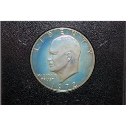 1972-S US Eisenhower $1 Proof In Display Case & Box; EST. $10-20