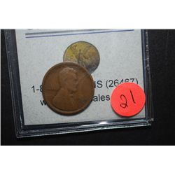 1909-S US Lincoln Wheat Back Penny; EST. $110-125