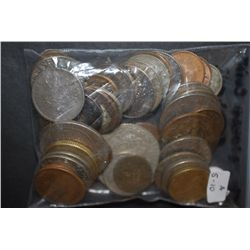 World Coins & Tokens; Various Dates, Conditions & Denominations; Lot of 50; EST. $5-10