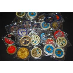 Military Challenge Coins; Various Dates, Bases, People, Etc.; Lot of 25; EST. $75-200