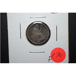 1837 Seated Liberty One Dime; F; EST. $100-250