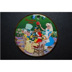 "1996 Grolier Collectibles Alice In Wonderland ""Christmas In Wonderland"" Collectible Porcelain Disk C"
