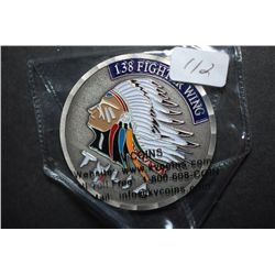 Air National Guard Tulsa OK 138th Fighter Wing Military Challenge Coin; EST. $5-10