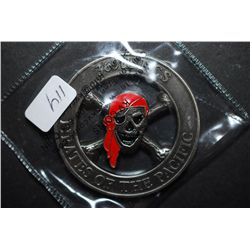 369th RCS Pirates Of The Pacific Military Challenge Coin Presented By The Commander; EST. $5-10