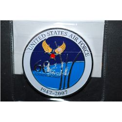 1947-2007 United States Air Force 60th Anniversary Military Coin; One Team One Mission; EST. $5-10