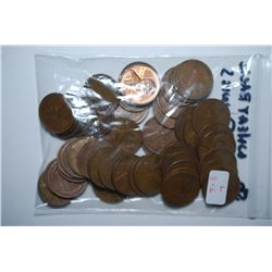 US Lincoln Wheat Back Penny; Various Dates & Conditions; Lot of 50; EST. $3-6