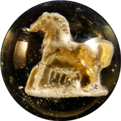 "Marbles - Sulphide: Horse, 1-1/16"" 9.9"