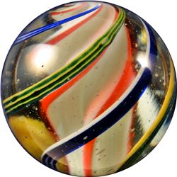 "Marbles - Swirl: Lobed Solid Core, 1-3/8"" Polished"