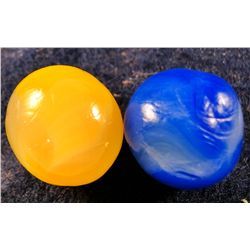 "Marbles - Akro Agate Company: Royal, double ingot, lot of 2, 25/32"" 9.7"