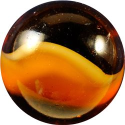 "Marbles - Peltier Glass Company: Root Beer Float, 15/16"" 9.9"