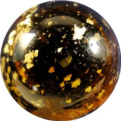 "Marbles - Mica: Amber, 25/32"" 9.8"