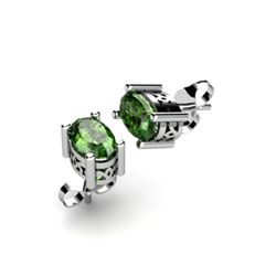Tourmaline 1.00ctw Earring 14kt White Gold