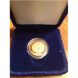 1985 MEXICO 250 GOLD PESOS PROOF WORLD CUP SOCCER COMMEMORATIVE