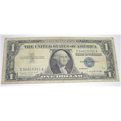1957 SERIES A $1 SILVER CERTIFICATE BILL SERIAL # I54015951A PLEASE LOOK AT PIC TO DETERMINE GRADE*!