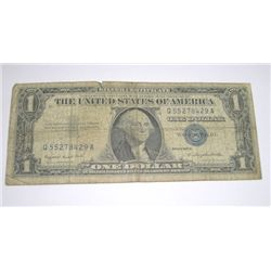 1957 SERIES A $1 SILVER CERTIFICATE BILL SERIAL # Q55278429A PLEASE LOOK AT PIC TO DETERMINE GRADE*!