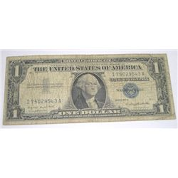 1957 SERIES A $1 SILVER CERTIFICATE BILL SERIAL # I75029543A *PLEASE LOOK AT PICTO DETERMINE GRADE*!