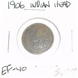 1906 INDIAN HEAD PENNY RED BOOK VALUE IS $15.00 *NICE COIN - RARE EXTRA FINE HIGH GRADE*!!