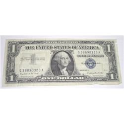 1957 SERIES A $1 SILVER CERTIFICATE BILL SERIAL # G38890323A *PLEASE LOOK AT PIC TO DETERMINE GRADE*