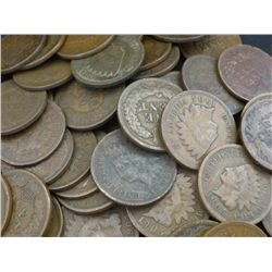 Lot of 100 Indian head Cents