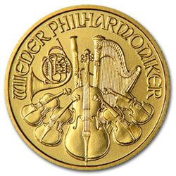 1 oz. Philharmonic Gold Bullion - Random - Pure