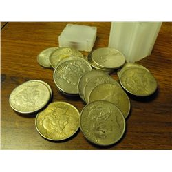 (20) Assorted Date Peace Silver dollars