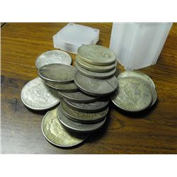 (20) Peace Silver Dollars g-xf
