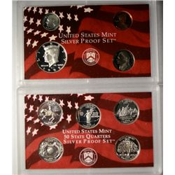 1999 9 coin silver proof set  no box  est  $100-$125