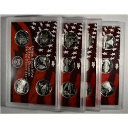 2002-05-06-07 silver proof quarters sets  no box  est  $140-$150
