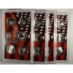2002-2 06-07 silver proof quarters sets  no box  est  $140-$150