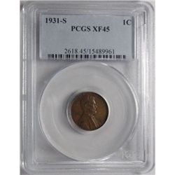 1931S  Lincoln penny PCGS45