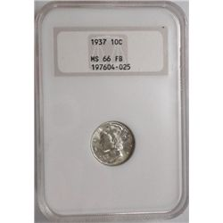 1937 Mercury dime    NGC 66FB