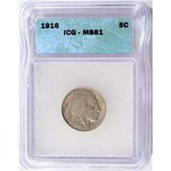 1916 BUFFALO NICKEL ICG MS-61