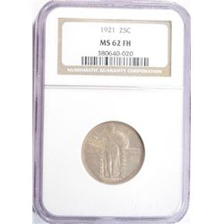 1921 STANDING LIBERTY QUARTER NGC MS-62 FH