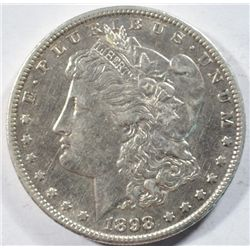 1898-S MORGAN DOLLAR AU+