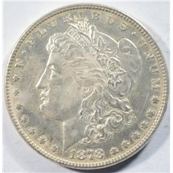1878 8TF MORGAN DOLLAR AU/BU