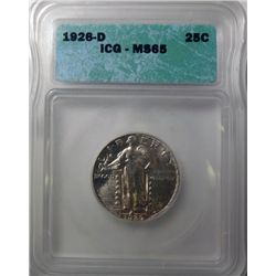 1926-D STANDING LIBERTY QUARTER ICG MS65 GEM