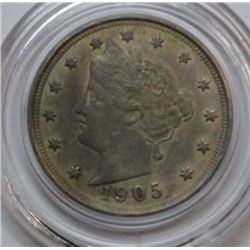 1905 LIBERTY NICKEL MS61