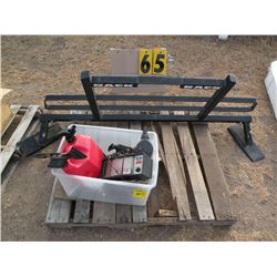 Pallet w/headache rack for pick-up, 4-Way, mirrors