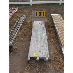 Qty 2  10 ft aluminum scaffold planks