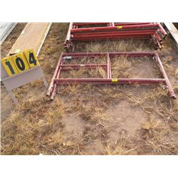 Pair of 2 ft scaffold frames