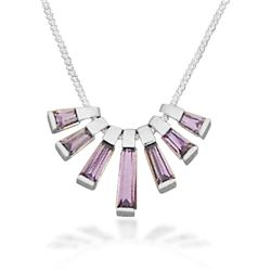 "18"" 7 Purple CZ Necklace"