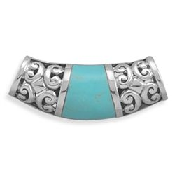 Reversible Turquoise Slide with Filigree Design