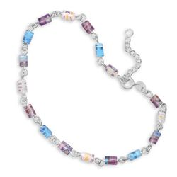 "9""+1""Extension Millefiori Bead Anklet"
