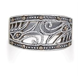 Swirl Design Marcasite Ring