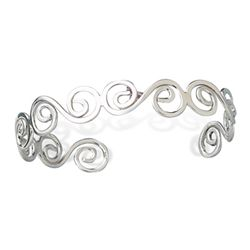 Thin Polished Swirl Cuff
