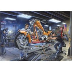 Motor Marc Lacourciere BURING DESIRE Motorcycle Art