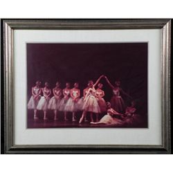 Art Photograph of Ballet Dancers -Vintage, Framed
