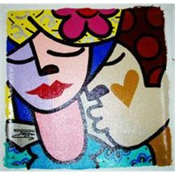 Jozza Original Pop Art Painting Kisses