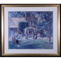 Large Framed Art Print Country Summer House